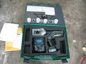 Greenlee E12ccxl12 12ton Battery Operated Crimping Tool Charger 12 Volt