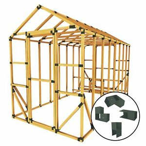 Build Your Own E z Frame 8x16 Standard Chicken Coop And Run Kit Black