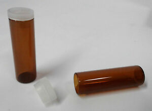 New 144 Unbranded 10 Ml Brown Glass Bottles Vials Plug Snap Top Plastic Lids