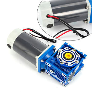 Dc12v 90w Reversible Gear Motor Reducer W Worm Gearbox For Automatic Door Locks