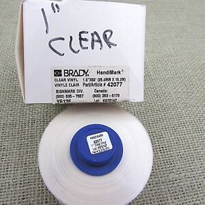 Brady Handimark Clear Vinyl Marking Tape 1 X 50 42077 Free Us Shipping