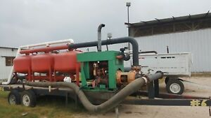Yardney Drip Irrigation Sand Filter Bank Diesel John Deer Pump Trailer 6