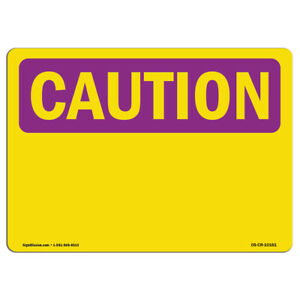 Osha Caution Radiation Sign Caution Blank Write on made In The Usa