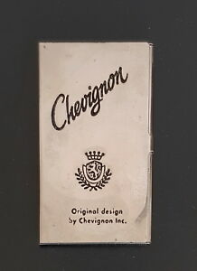 Chevignon Vtg Business Card Stainless Steel Silver Tone Holder Case Pre owned