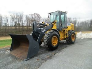 2006 John Deere 544j Articulated Wheel Loader Cab Heat Air Low 5164 Hours