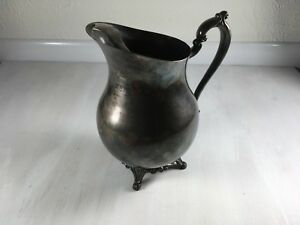 Antique Fb Rogers Silver Company Silver Plate Water Pitcher
