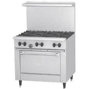 Garland X36 6r Range 36 Wide 6 Burners 30 000 Btu Standard Oven 33 000 Bt