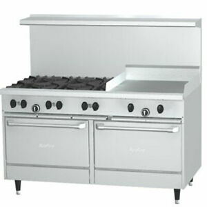 Garland X60 6g24rr Range 60 Wide 6 Burners 30 000 Btu 24 Maniual Griddle