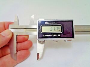 Vintage Brown Sharpe Digit cal Ii 2 Digital Caliper New Batteries Installed