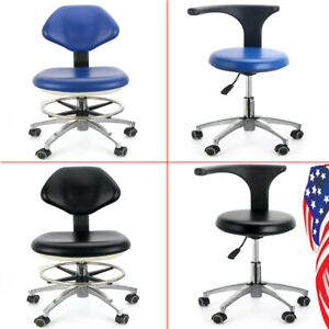 Usa Pu Leather Medical Doctor s Stool Adjustable Mobile Chair