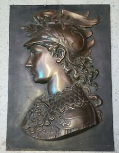 Vintage Bronze Wall Plaque Roman Greek Aries Mars Free Shipping In The Usa