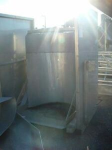 Barrel Dumper All Stainless Steel 36 Inch Wide By 42 Inch Deep Chamber