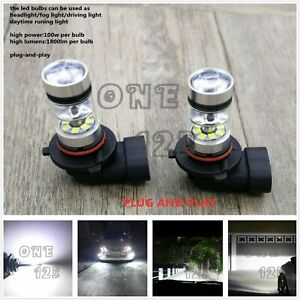 2x Super Bright H10 9145 9005 6000k White 55w Cree Led Fog Light Conversion Kit