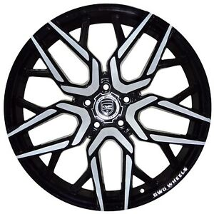 4 Gwg Nigma 18 Inch Black Machined Rims 18x9 Fits Acura Tl Type S Except Brembo
