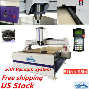 Usa 51 x98 1325 Ad And Woodworking Cnc Router Machine 3kw Spindle vaccum Table