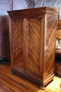 Beautiful Antique French Walnut Louis Philippe Armoire H 80 1 2 X W 56 1870 S