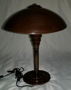 Mid Century Ufo Table Lamp Flying Saucer Atomic Space Age Vintage