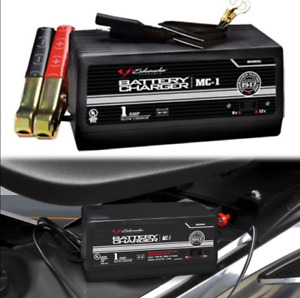 Manual Car Battery Charger Portable 6 12 V High Power 1 Amp Auto Charging Black