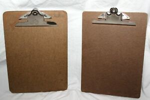 Vintage Lot Of 2 Masonite Clipboards One Stempel 9 X 12 5 Inches