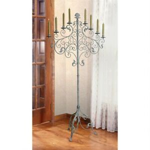 59 H Antique Style Castle Gothic Ornate Candelabra Medieval Style Lighting