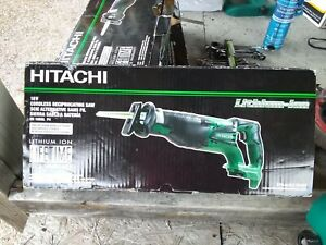 Hitachi 18v Cordless Reciprocating Saw New W Box Batteries Charger Sold Separate