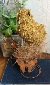 Baby Chick Rusty Spring Easter Butterfly Holiday Handmade Star Bell Farmhouse