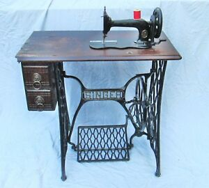 Singer Model 12 Fiiddle Base Treadle Sewing Machine 1882 Working