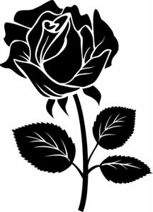 Die Cut Vinyl Decal Rose Flower Garden Diy Craft 20 Colors Car Truck 84