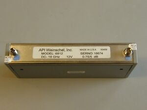 Aeroflex Weinschel Programmable Step Attenuator 18 Ghz 5 Db Step 150t 75 6812
