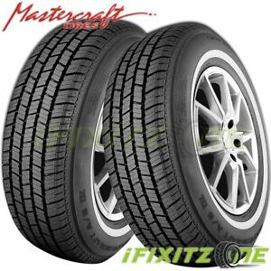 2 X Mastercraft A s Iv P235 75r15 105s white Wall All Season Performance Tires