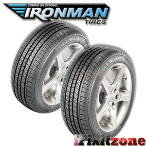 2 Ironman Rb 12 Nws 225 70r15 100s White Wall All Season High Performance Tires