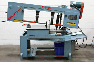 18 W 14 H Roll in Hs1418 Horizontal Band Saw Mitering 2 Hp 1 Blade Vise
