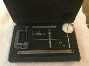 Starrett Universal Test Indicator Set With Case Jeweled 196 001 Back Plunger