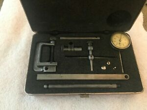 Starrett Universal Test Indicator Set Complete 196 Back Plunger Jeweled 001