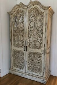 Antique French Armoire Wardrobe Linen Closet