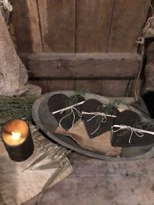 Primitive Heart Bowl Fillers Homestead Pantry Cookies Valentine S Day Set Of 3