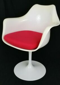 Vintage Tulip Base Swivel Chair Knoll Saarinen Herman Miller Style Mid Century