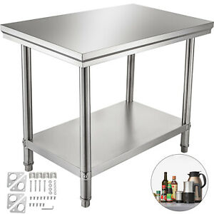 24 X 36 Stainless Steel Work Prep Table Commercial Kitchen Restaurant 60x90x80