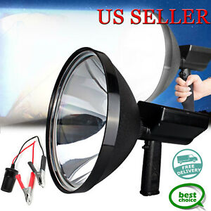 New 100w Hid 9 Handheld Hunting Camping Marine Working Spot Light Bright White