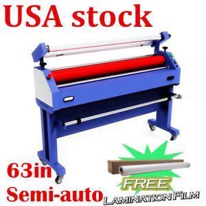 Usa 63in Semi auto Cold Laminator And Mounting Machine With Laminating Film