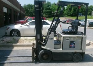 Caterpillar Ec15 Electric Forklift Three Stage Mast