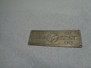 Antique original pierce Arrow automobile Body Tag ca 1920s t272