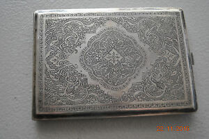 Antique Russia Silver 84 Cigarette Case