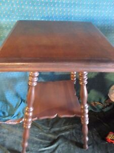 Antique Spindle Leg Victorian Wood Table Plant Stand