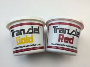 Two Tubs Of Transjel Transmission Assembly Lube One Red And One Gold