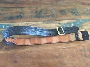 Tex Shoemaker Black Basketweave Police Duty Belt 37 5 To 42 Walking Grimes