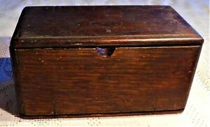 Antique Early 20th Century Singer Sewing Machine Parts Wooden Puzzle Box