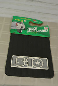 New Vtg Usa Chevy S 10 Truck Heavy Rubber Mud Flap Guards 18 X 12 Tire Black