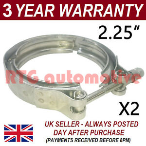 2x V Band Outer Clamp Stainless Steel Exhaust Turbo Hose Radiator 2 25 57mm