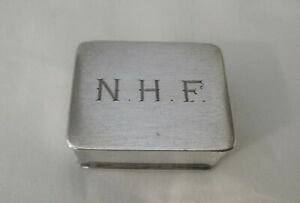 Vintage Sterling Silver Miniature Volupte Pill Box Mid 20th Century
